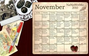Chocolate NaNoWriMo Wallpaper by simply