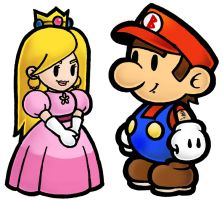 Princess and Mario by StephieT