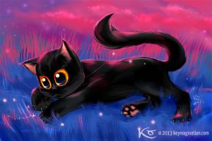 Kitty with firefly 2013 by Keymagination