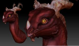 Zbrush Dragon - color by AbelPhee