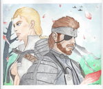 Snake and Da Boss by gasparic104