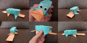 Perry the Origami-pus by HappyGhost71