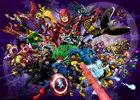 50 For 50 Avengers and X-Men by 66lightning