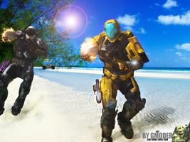 Halo Reach Summer - Beach oddball by TurretBrosTeam