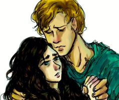Finnick and Annie Hunger Games by pebbled