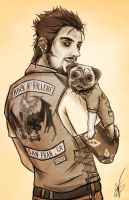 Liam and Pugsy by VoydKessler