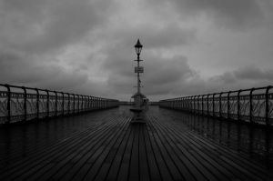 Cloudy Pier by BugScoop12