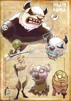 -angry pandas and friends- by C-CLANCY