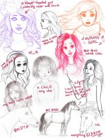 Recent and not so recent sketches by Avelynnn
