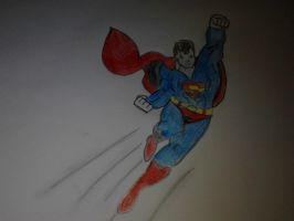 Superman to the rescue!! by thegeek24