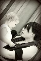 Morrigan and The Child by LadySiha