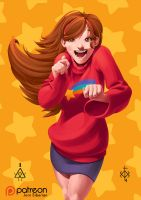 Mabel Pines Grown-up with timelapse process video by Jorn-Siberian