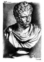 The Bust of Caracalla by NezoElyk