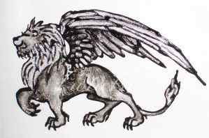 Winged lion design by DanaScully