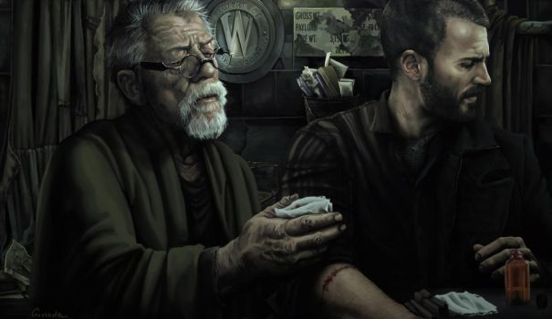 Two Good Arms - Snowpiercer Painting by Gassada