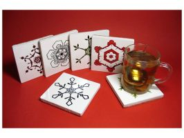 Ceramic coasters by Amaltheea