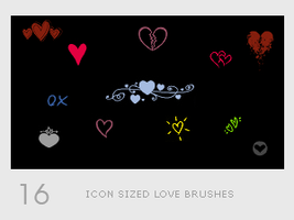 Icon Sized Love Brushes by diebutterfliege