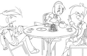 Tea Time For Just The... two of us by senji-comics