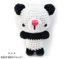 panda bear amigurumi by adorablykawaii