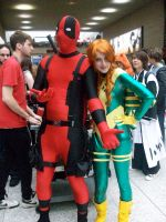Siryn and Deadpool by stacey-shikon-uk
