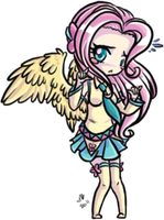 Chibi Vocaloid Fluttershy by KikiLime