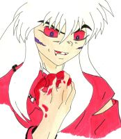 Inuyasha (colored) by azuregundam