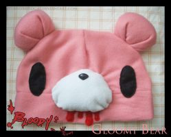 Bloody Gloomy Bear Hat by Mikochi