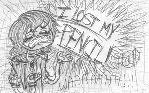 Lost Pencils Make Me Cry by FeverishRainbow