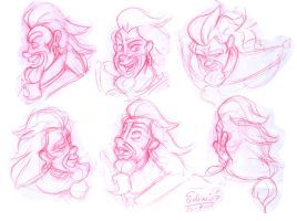 :: Agron faces :: by samycat