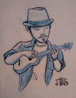 Playing Ukulele by tedbergeron