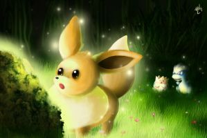 Eevee at Moss Rock by goldfishkang