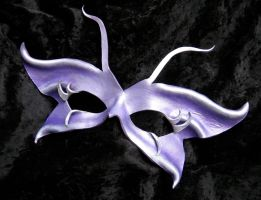 Lavender Butterfly Mask by MummersCat