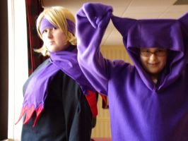 Morty and Gengar at AD2010 by CynicalSniper