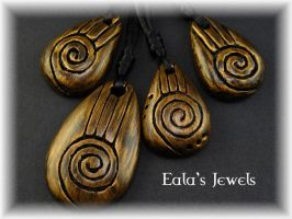 Heart of the earth collection pendants by Shatiel85