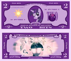 Twilight Sparkle 2 bits bill by cradet
