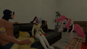 Gmod Scene: And the girls came for a visit by RaijinSenshi