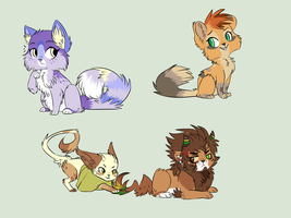 Feline YCH Derps .:Complete:. by XKSilver