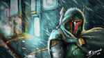 The Hunt Is On - Boba Fett by MattGavasheli