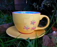 Fluttershy Coffee Cup by KatarniaHolbart