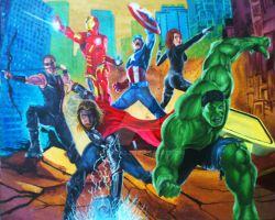 AVENGERS ASSEMBLE!! by Mewax42