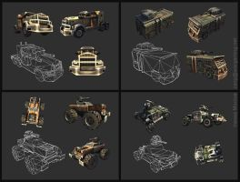 Desert Law vehicles 2 by Zanng