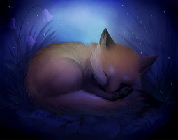 Sleepy Foxy by Neko-Maya