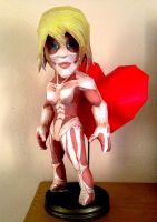 Female Titan Papercraft + Heart by hklovesboba