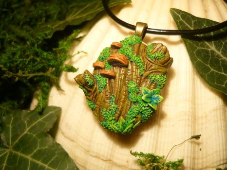 My Piece of Forest - handmade Pendant by Ganjamira