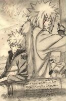 Jiraiya and Naruto by Mlpowaa