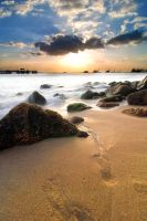 Footprints by the Beach.. by Shooter1970