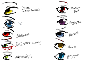 Kuro Anime Eyes by Lyraful
