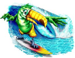 Surfing Toucan by obxrussell