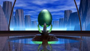 Egg Shrine by someole3d