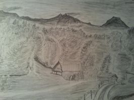 Old Landscape drawing by JamesyBeanZ